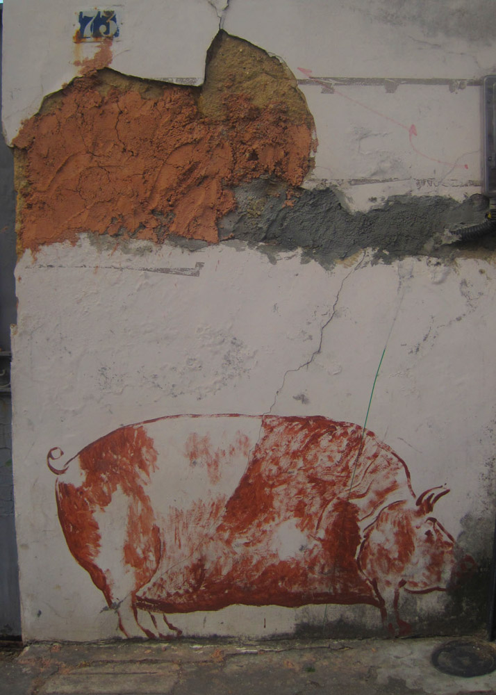 pig graffiti Rio de Janeiro