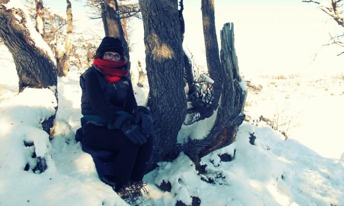 Freezing cold at Lago Capri, El Chalten