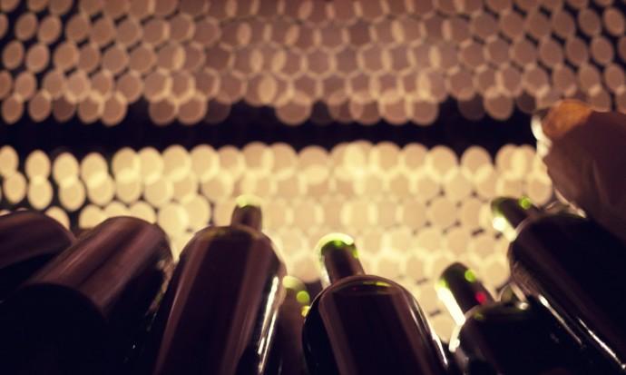 Bottle storage at Tomasso