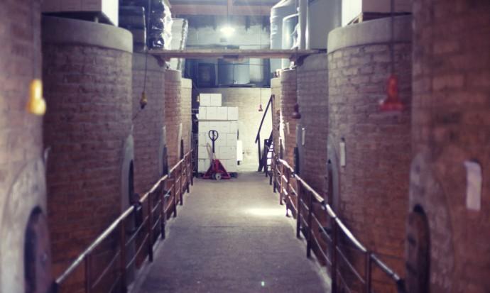 Brick casks at Tomasso winery, Mendoza