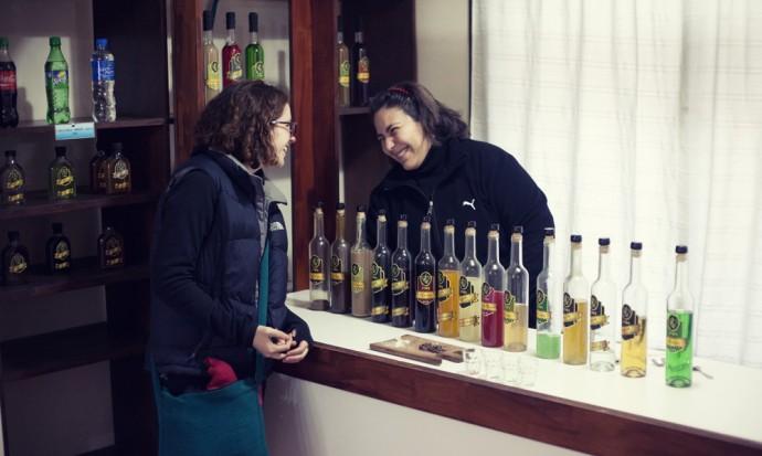 Victoria at the liquor tasting