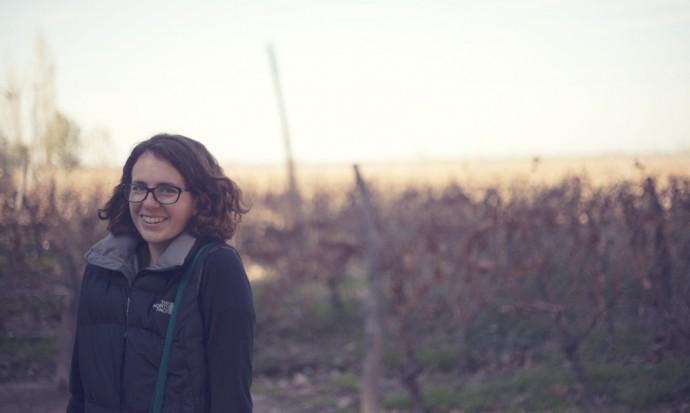 Victoria in the vineyard