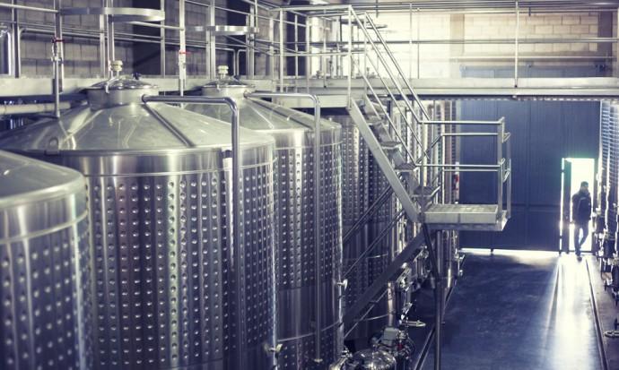 Wine storage at Tempus Alba