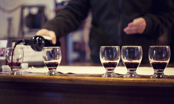 Wine tasting at Tomasso