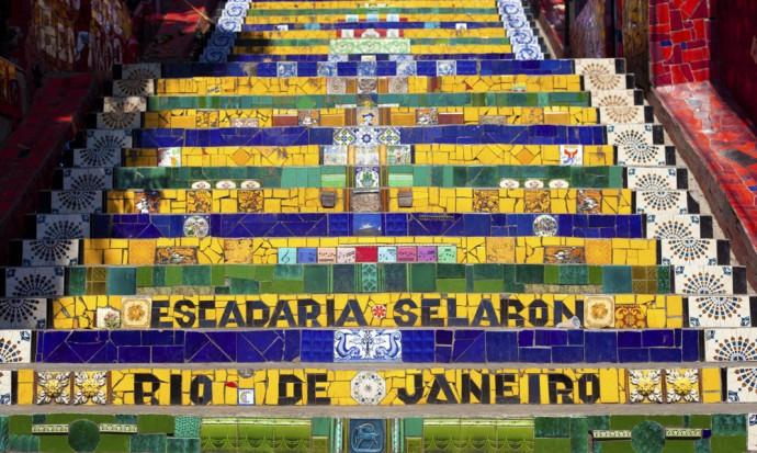 Colourful Steps in Rio de Janeiro