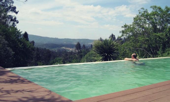 Infinity pool in Casa de Cascada, Portugal