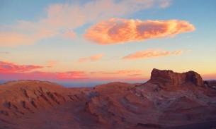 Sunset at Valle de la Luna, San Pedro de Atacama