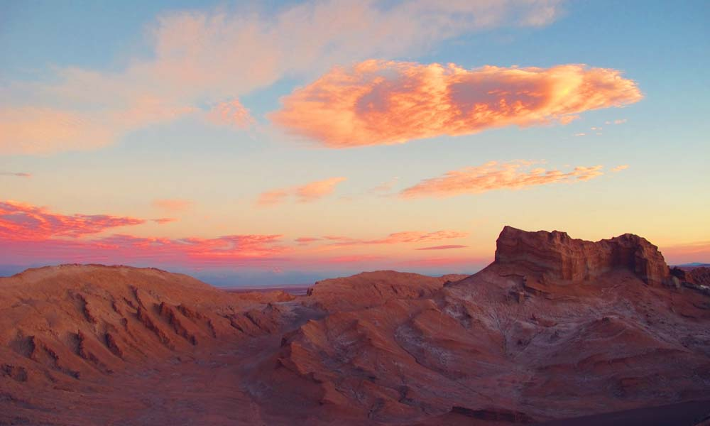 Sunset at Valle de la Luna, San Pedro de Atacama