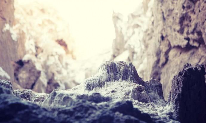 Tiny mountain in the salt cave, San Pedro de Atacama tour