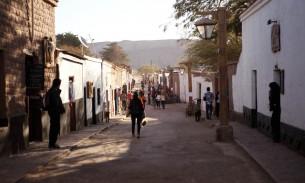 Dusty streets of San Pedro de Atacama