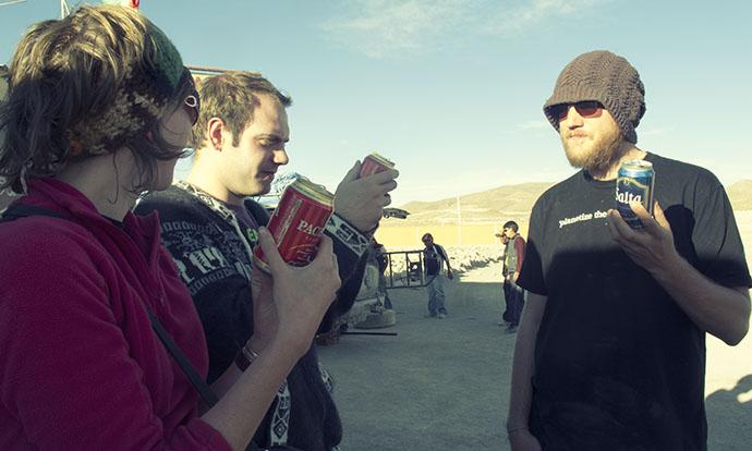 Beer on Salar de Uyuni