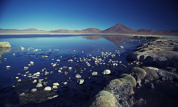 Coloured lagoon water