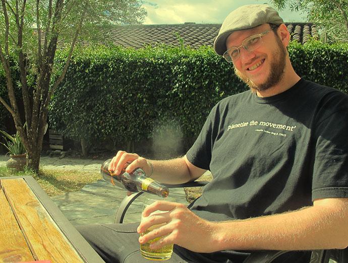 Steve on holiday in Izhcayluma