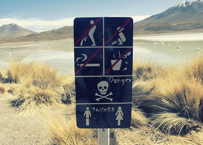 Toilet sign Bolivia