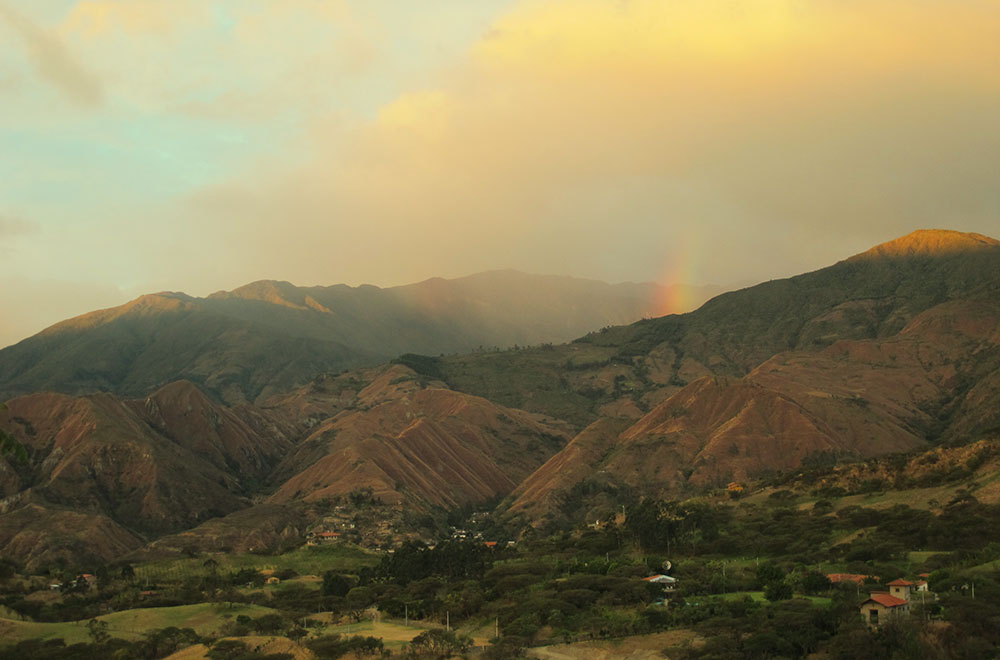 Vilcabamba view from Izhcayluma