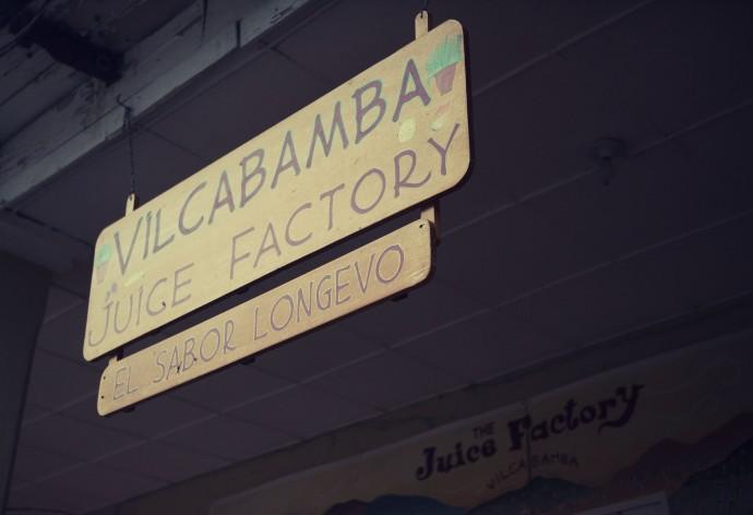 Vilcabamba Juice Factory - the taste of longevity