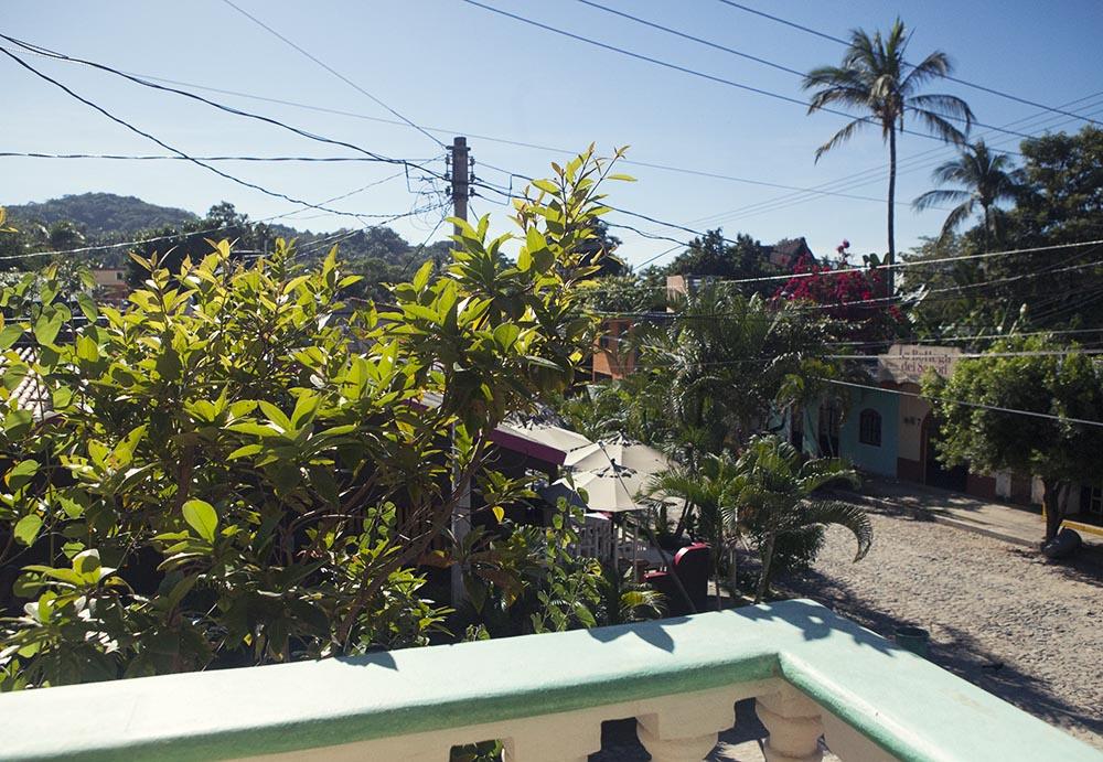 Balcony view San Pancho Mexico apartment
