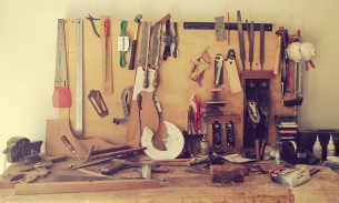 Guitar making work station Paracho