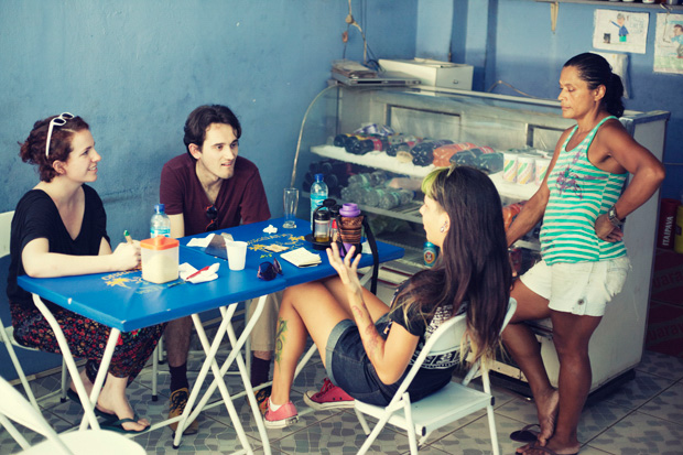 Eating lunch at a favela in Rio
