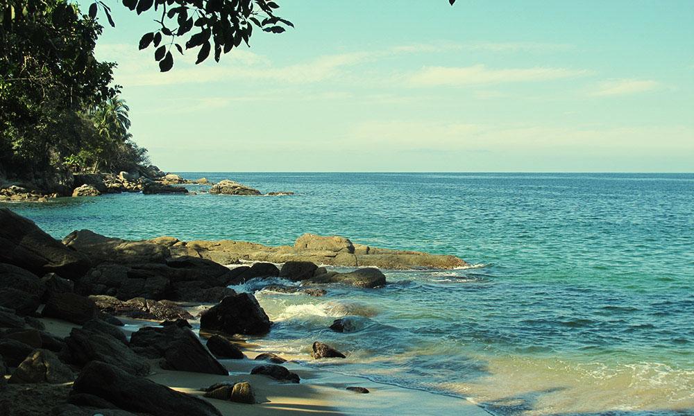 Private beach at Casa Isabel