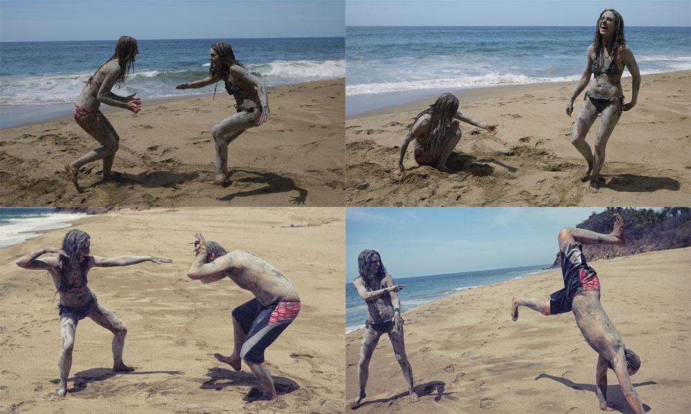 Mud fighting in San pancho