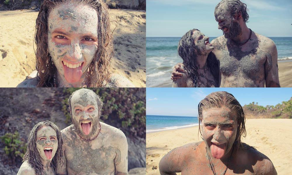 Mud montage San pancho mud beach
