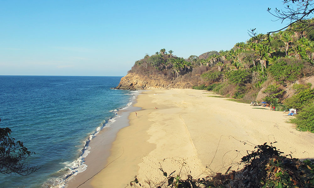 The mud beach in San pancho