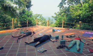Savasana at yoga teacher training