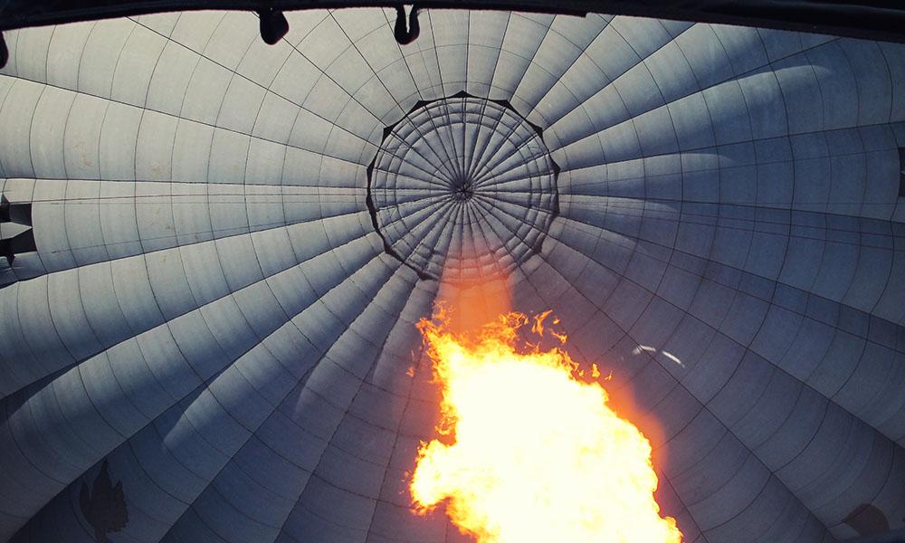 Balloon fire