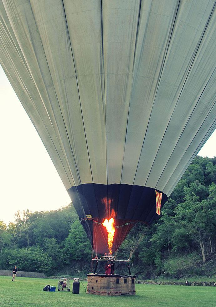 Balloon warming up