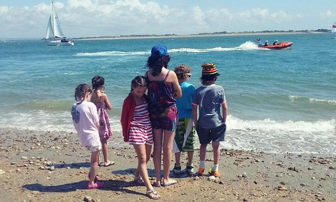 Kids at Hayling Island