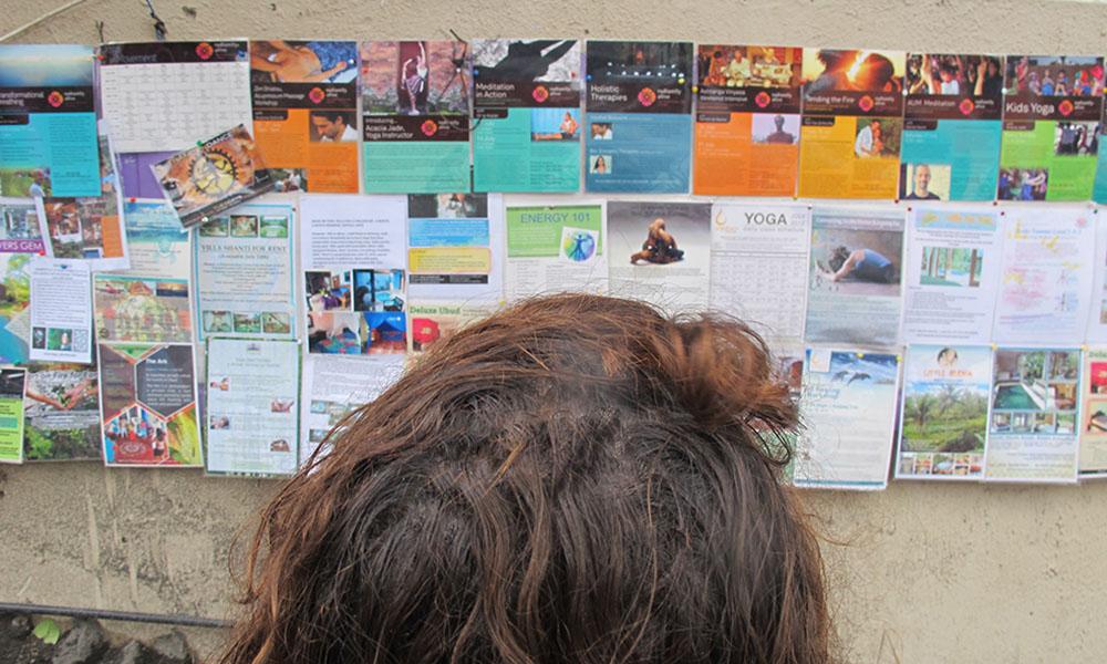 Staring at posters