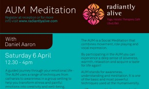 AUM meditation at Radiantly Alive in Ubud
