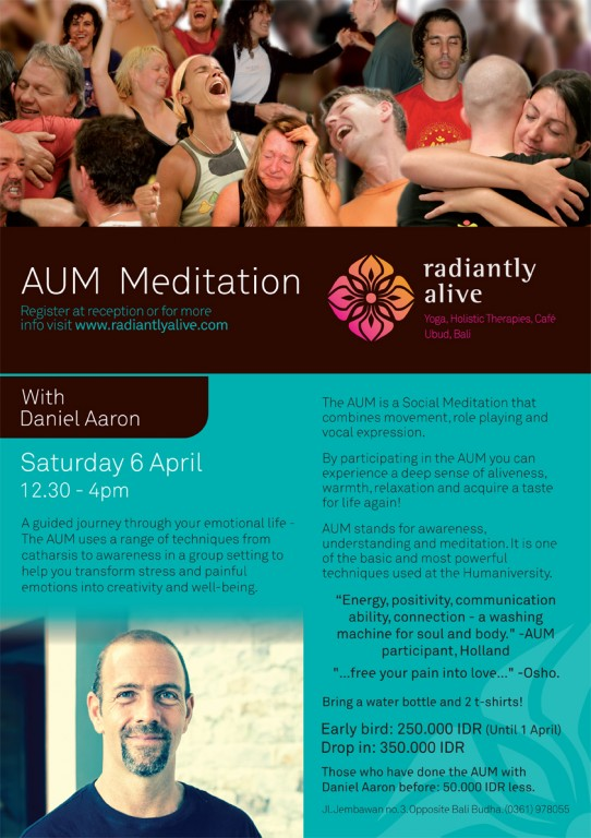 AUM meditation at Radiantly Alive in Ubud