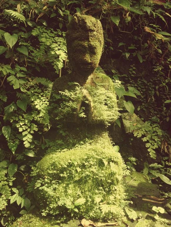 Camouflage buddha in Ubud