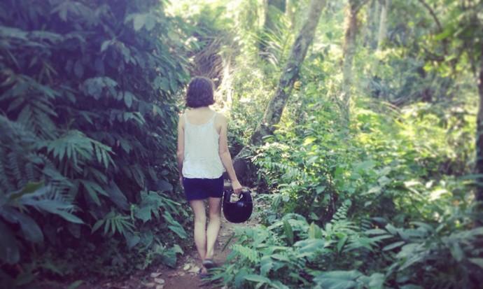 Walking in the woods of Ubud