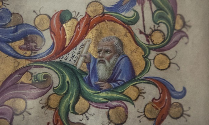 Detail rom painting in Siena