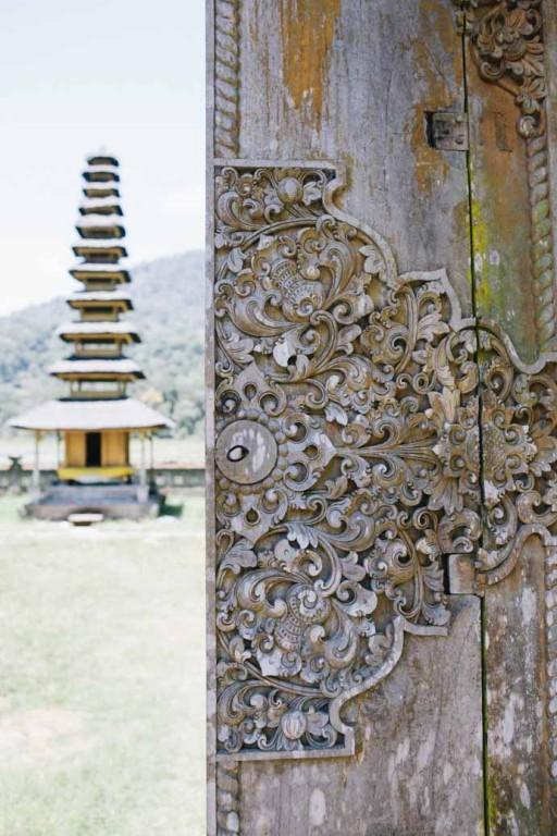 Door carving at Lake Tamblingan