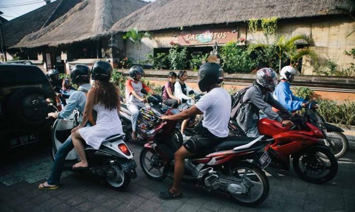 Trafic à Ubud