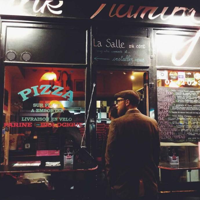 Steve at Pizza Pink Flamingo, paris