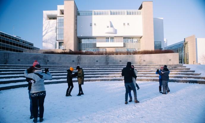 Tango dancing in Helsinki