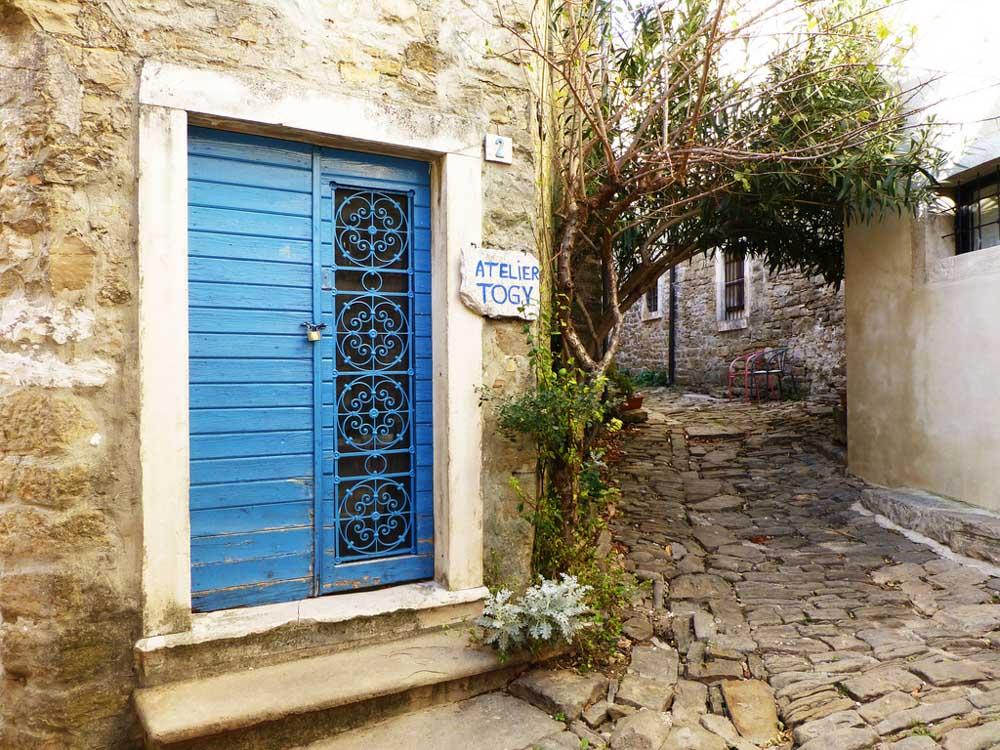 Door and street in Croatia