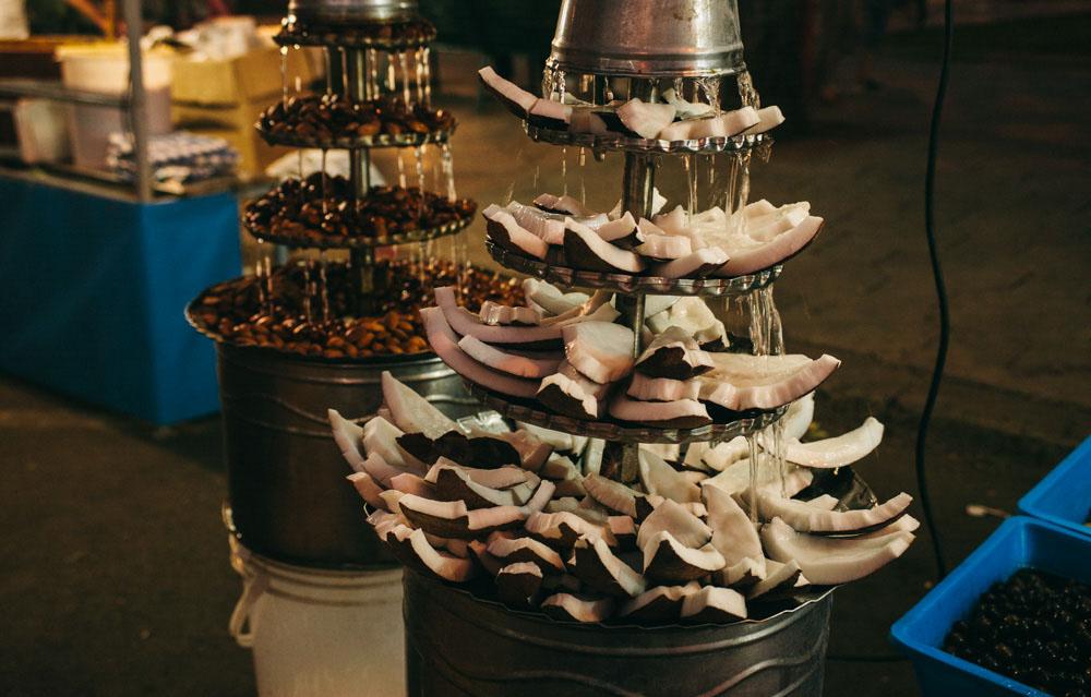 Coconut fountain in Scorrano