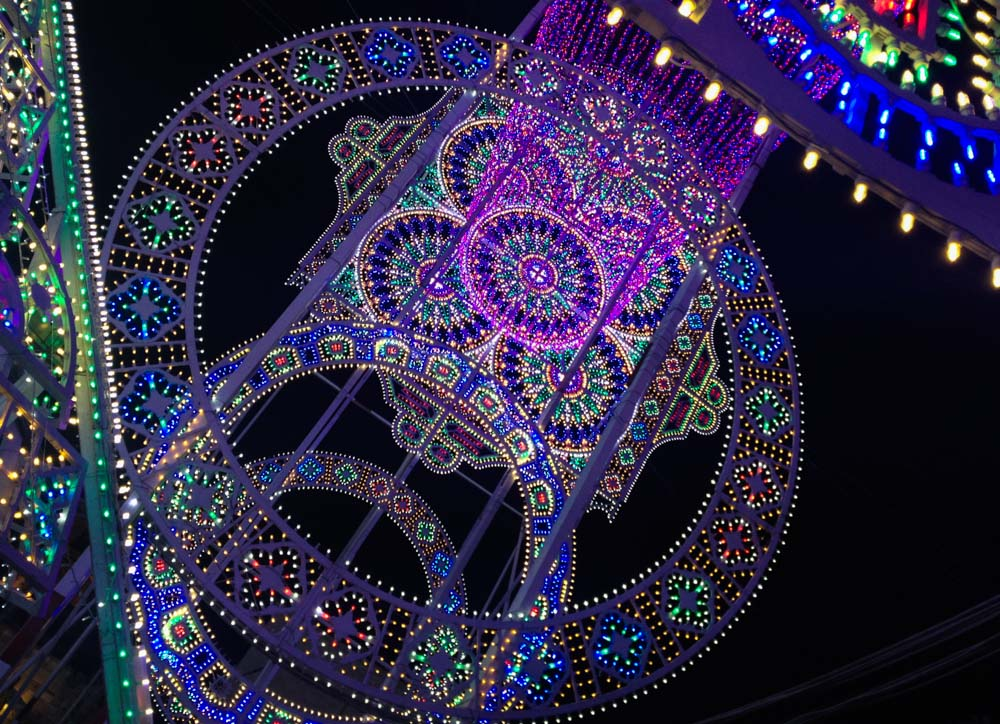 Festival of lights in Scorrano Italy
