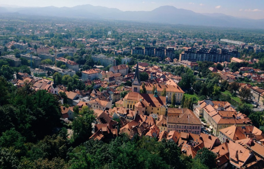 10 day road trip in Slovenia - Ljubljana view from castle