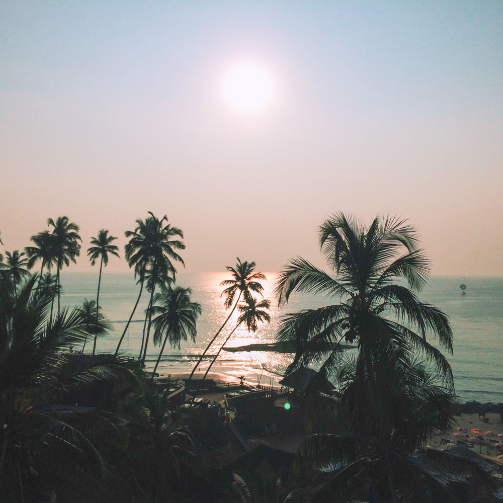 View from Alcover resort, Vaggator, Goa