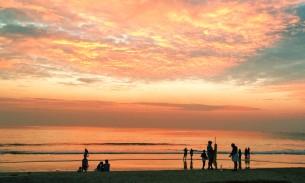 Varkala sunset, India