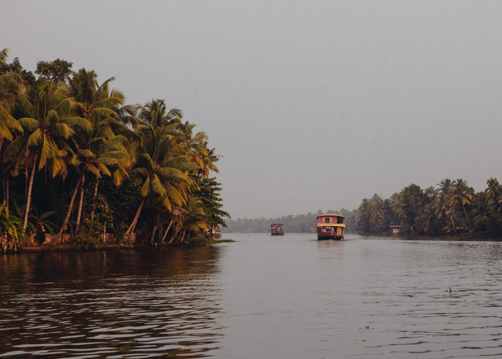 Houseboat on Kerala backwaters near Alleppey