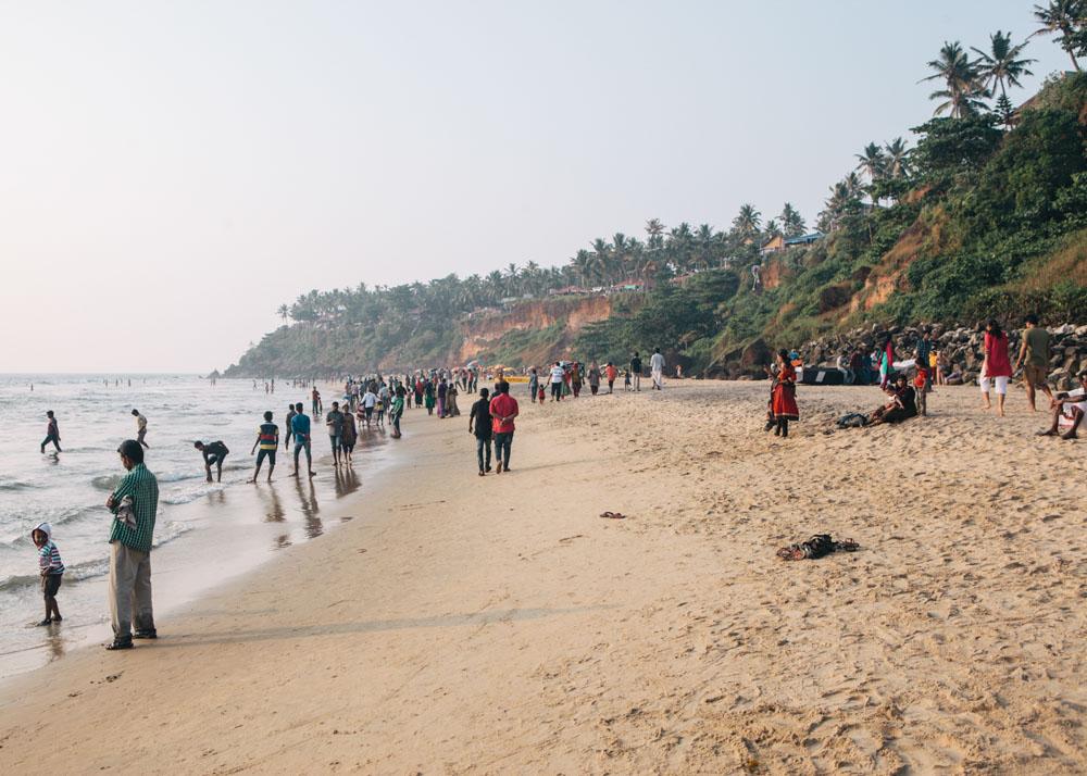 Varkala beach near Eden Garden