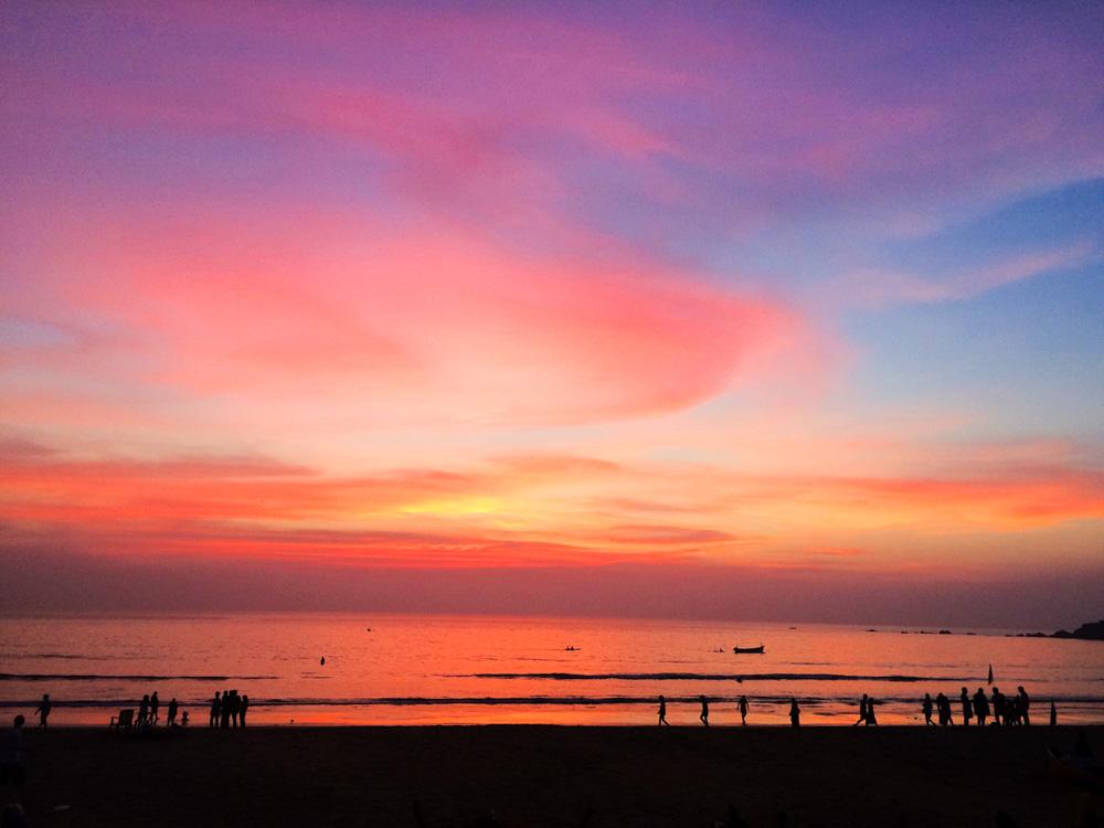 Sunset at Patnem Beach
